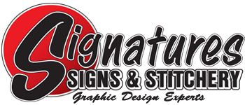 Signatures Signs & Stitchery logo